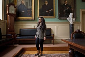 """Ana Barros leads the Harvard College First Generation Student Union. """"This is a movement,"""" she says. """"We are not ashamed of taking on this identity."""" Credit Charlie Mahoney for The New York Times"""