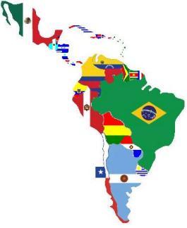 america-latina-map-flags